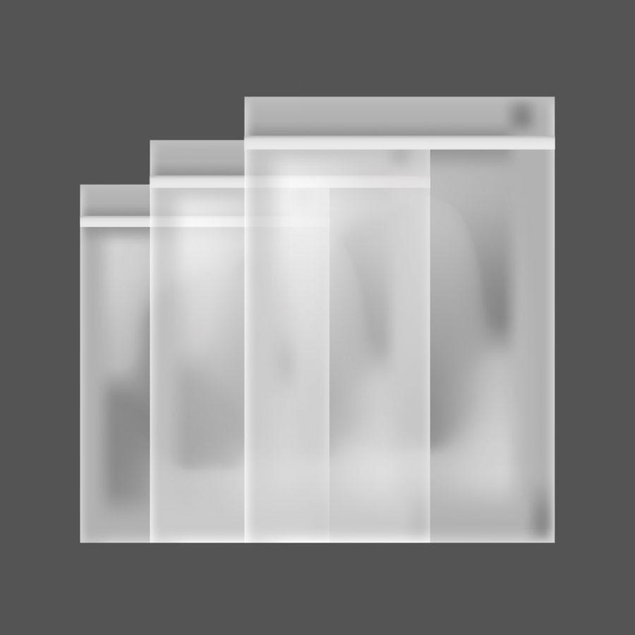 Bolsas de Polipropileno Cristal Con Solapa y Adhesivo